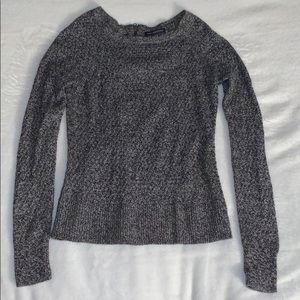 AEO Grey Woven Sweater Size XS